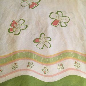 VTG Twin Sheet Set - Mod Flowers - Flat Fitted PC